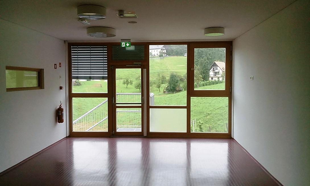 EI30 protipožarna lesena stena- Vrtec Rovte